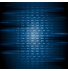 Dark blue binary code tech background vector