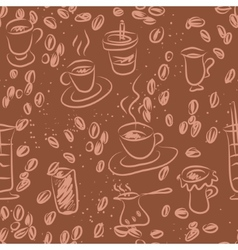 Coffee doodling vector image