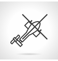 Helicopter black outline icon vector
