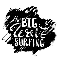 The big wave surfing vector