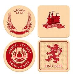 Retro beer coasters vector image
