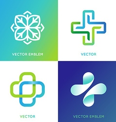 Set of abstract logos and emblems - alternative vector