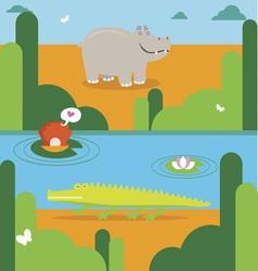 African animals cartoon vector