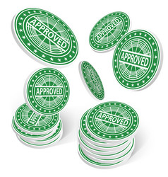 approved chips success concept 3d vector image vector image