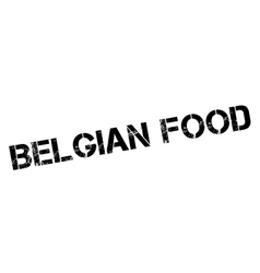 Belgian food rubber stamp vector