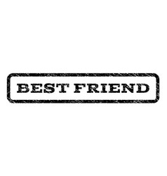 best friend watermark stamp vector image