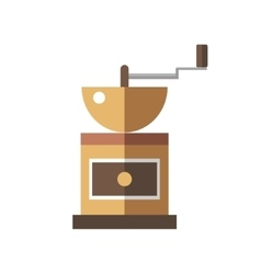 Coffee mill icon on white background vector image vector image