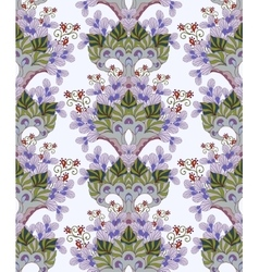 Colorful seamless pattern - abstract flowers vector image vector image