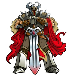 Crusader knight vector image