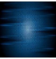 Dark blue binary code tech background vector