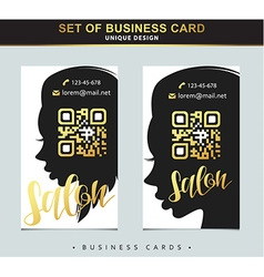 Design Template business card for beauty salon vector image
