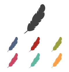Feather icons set vector