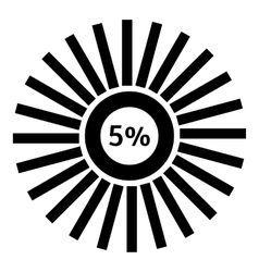 Five percent download icon simple style vector