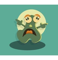 Funny cute cartoon monster vector