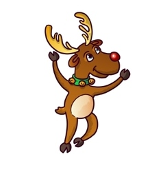Funny cute reindeer christmas isolated vector