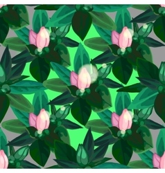 Gentle azalea pattern vector