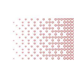 Halftone pattern background heart shapes vintage vector
