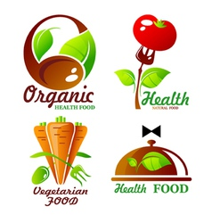 icons and symbol for organic food vector image vector image
