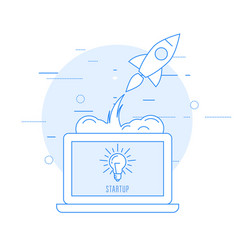 launch of new business - sturtup beginning vector image vector image