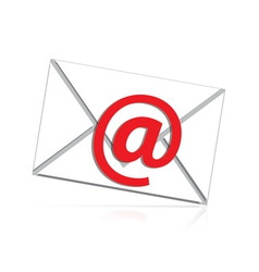 Mail isolated vector