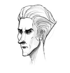 Man portrait sketch Pencil drawing imitation in vector image