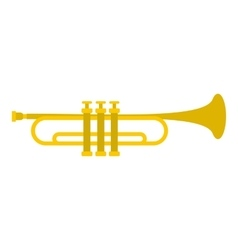 Music tube icon flat style vector image vector image