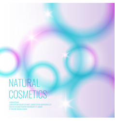 natural cosmetics background vector image vector image