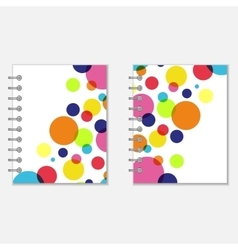 Notebook covers design with colorful circles vector