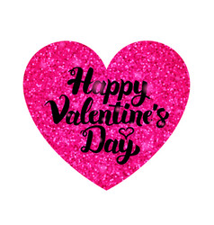 pink valentines day greeting vector image
