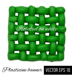 Plasticine banner vector image