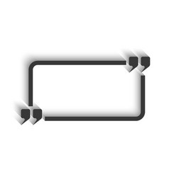 Quote and rectangle frame for text isoleted mockup vector image vector image