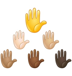 Raised hand emoji vector