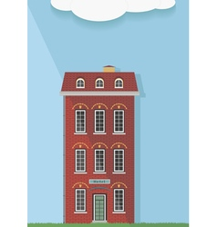 Red brick house on a light background vector