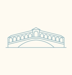 Rialto bridge vector