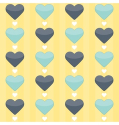 Seamless pattern with blue and mint hearts on a vector image vector image