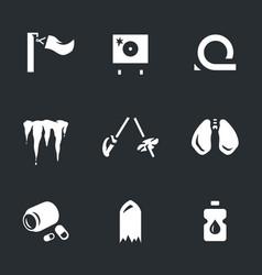 Set of biathlon fail icons vector