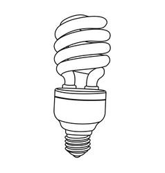 silhouette modern light bulb icon design vector image