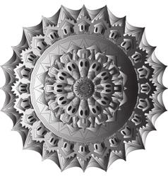 Skull mandala circe vector