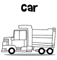 Truck hand draw vector