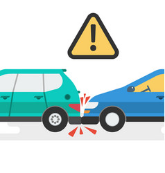 two cars accident vector image