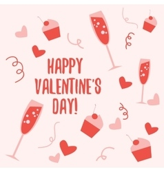 Valentine day pattern 2 vector image