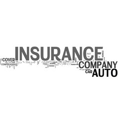 What should you look for in an auto insurance vector