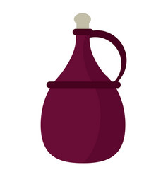 Wine carafe cork icon vector
