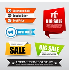 045 collection of web tag banner for promotion vector