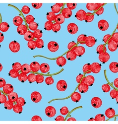 Colored currant seamless pattern vector