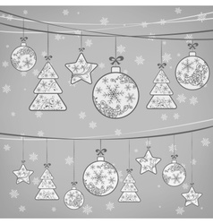 Christmas ornament decoration vector image