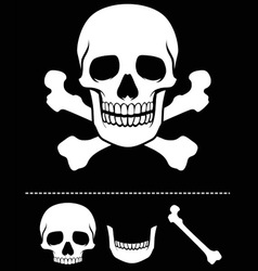 skull and crossed bones icon vector image