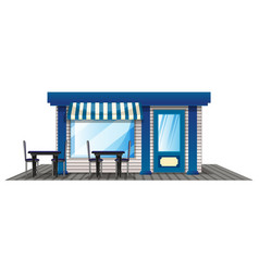 cafe with outdoor dining tables vector image