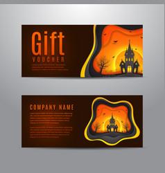 Gift voucher for halloween vector