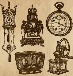Old objects no5 - hand drawn collection vector
